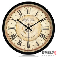 antique wall pockets - Circle fashion vintage fashion living room decoration vintage iron wall clock wall clock pocket watch clock