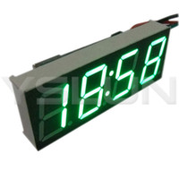 dc electronic meter - Green LED Display electronic Clock DC V V Digital Clock Panel Meter for Car Motorcycle Electromobile electric bicycle etc