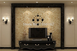 Wholesale new sale time limited real quartz wall clocks coffee diy clock fashion acrylic combination of watchesrushed