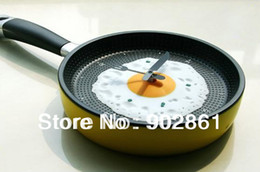 Wholesale funlife cm in Fanshion Egg Pan Clock Decor Wall For Kids Rooms Decoration Interior Home