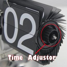 Wholesale pc High Quality Auto Flip Clock amp Retro Creative Balance Desk Clock For Home Decorative Gift