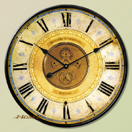 Wholesale Free Shipping Retro Style Rustic Modern Design Home Decoration Vintage Wall Clocks Large W1081