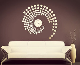 Wholesale Fashion Modern Peacock Dot Sticker DIY Mirror Wall Clock Wall Sticker Home Decoration Anne