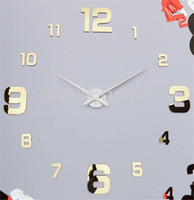 antique backgrounds - DIY creative art Aleck oversized living room wall clock watch modern personality background wall DZ0172