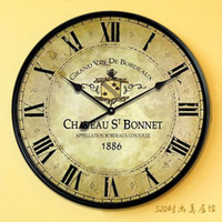 antique french wall clocks - new large wood wall clock with Roman metal frame numeral Europe country Style French designface relogio de parede cm cm