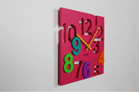 antique household - Modern design d DIY square wall clock with hollow numbers for home decor EVA wall sticker hour novelty households