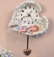 antique ship paintings - wall clock angel clock love mute resin handmade crafts gifts home decor decoration painting vintage