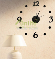 acrylic house numbers - Funlife New Roman Number Acrylic Simple DIY Wall Clocks Size Adjustable For Modern House Adhensive Wall Decoration wc1018