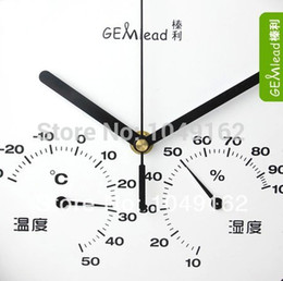 Wholesale quot stainless steel wall clock mute quartz with temperature humidity gauge home decor high quality clocks