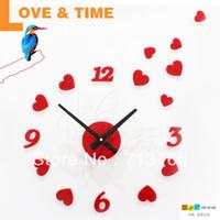 antique kitchen items - love heart DIY WALL STICKERS clock creative clock home decoration novelty items kitchen restaurant