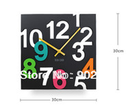 antique house numbers - funlife Digital Colorful Number Wall Clocks For Morden House Wall Decoration