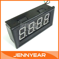 auto set clock - Digital Electronic Clock Red LED Car Motorcycle Auto LED Panel Time Watch quot DC V V Clock