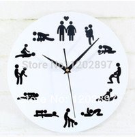 art positions - hot selling modern creative mute Personality hours sex fun Position quartz wall hang art clock
