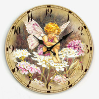 antique wooden angels - fashion wooden watch vintage wall clock angel living room match W1083