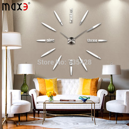 Wholesale Large size DIY home decorative wall clock creative radiated Divergent Art Bell wall stickers clock modern design home decor