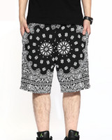 Wholesale New Fashion Mens Bandana Shorts Knee Length Swag Clothes Hiphop Shorts Westsite Streetwears
