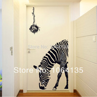 Wholesale Personalized Zebra Hotel Wedding Decoration Wall Stickers Living Room Bedroom Hallway Entrance Home Sticker