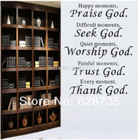 bible verses free - bible verse every moment thank god Wall quote sticker living room religious Wall Stickers home decor q0012