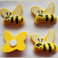 bee packages - inch Wood honeybee stickers D Bumble bee sticker Easter crafts Fridge stickers Kids toys Garden decor Home decals