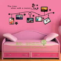 classic sofa - Classic flower vine photo frame vinyl wall decal stickers for living room sofa TV background wall picture frames