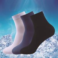 Wholesale HOT Mens Socks Ultra thin Male Breathable Socks for summer pairs one same color Male bamboo fiber socks