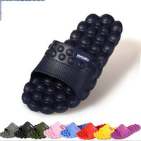 bathroom sandals - Mens Summer Flats Sandals and Slippers Non slip Bathroom Slippers Home Couples Massage Slippers