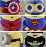 Wholesale 1 set The Avengers plush toys cm Marvel s Stuffed Toys Minions Plush toys Kids Gift The Avengers Dolls Gift