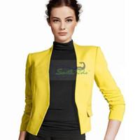 Cheap Wholesale-blazers slim pattern candy colour red yellow orange blue black blazer women blazers and jackets womens business suits
