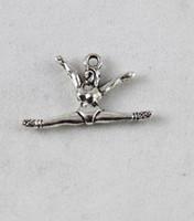 120PCS Tibetan silver gymnast charm A9611