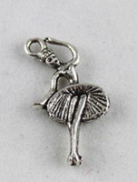 120PCS Tibetan Silver dancer charm A9612