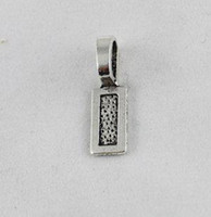 200PCS Tibetan Silver glue on bail rectangle charms 26mm A12...
