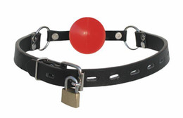 Soft Ball Gag with Lock (yellow Black Red)