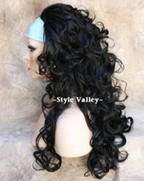 Wholesale hair wigs Extension Hair Piece Wigs Black Caps Falls Wig Synthetic Hairpiece