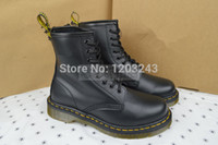 dr martens boots - Authentic Dr BLACK SMOOTH Womens Genuine Leather Shoes Ankle Marten Boots Shoes R11821006