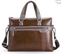 big briefcases - Top quality new men s handbags soft leather PU tote male shoulder bag vintage brown briefcase messenger bags big promotion