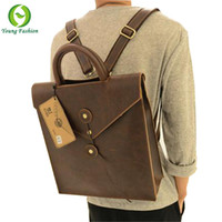 Wholesale Young fashion new leather men bag casual male student backpack men backpacks men s travel bags school backpacks for women