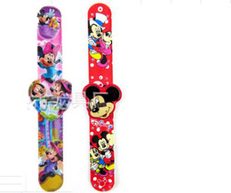 Wholesale new love Big hero spiderman car pony minnie cartoon clap watches best gift to children have in stock