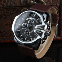 Wholesale Top DZ Style Watches Men Wristwatches Sports Quartz Watch Clock Male Genuine Leather Wrist Band Relojes Hombre Montre Homme