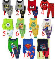 pajama - hot selling baby NEW Superman Batman Spiderman Minions Mike Boy Pure cotton underwear suits Kids Pajama sets PJS