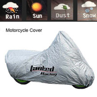 best motorcycle cover - Genuine Waterproof Silver reflective BEST Motorcycle cover covering Burglar scooter cover heavy racing protection S M L XL