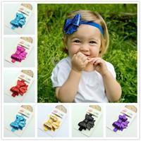 accesories for babies - NEW Sequins bow headband for baby girl flower elastic headband girls headwear kids hair accesories