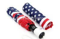 american flag umbrella - new drop folding automatic American USA Flag fashion umbrellas UV folding sun umbrella rain women men