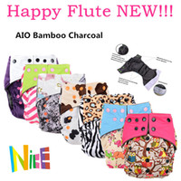 baby flute - New happy flute AIO cloth diaper washable cloth diapers bamboo charcoal reusable nappies baby fraldas