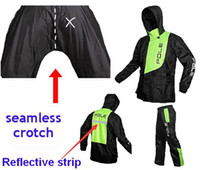 Wholesale Seamless Crotch Luminous Waterproof Fishing Raincoat With Trousers Windbreaker Motorcycle Riding Canvas Rain Coat Set