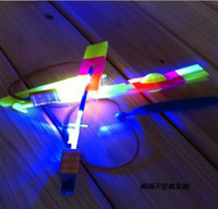 Wholesale Hot New wings helicopter LED flier flyer like umbrella plane LED amazing arrow Parachute mushrooms