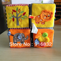 activity cube - soft cube blocks stuffed plush toys for baby interactive toy activity blocks early learning toy fabric classic toy