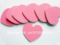 Wholesale pink heart shape nail file manicure tool personal nail file