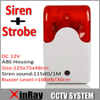 alarm system companies - New Indoor Wired Alarm Siren with Strobe Flash Light V Home Company Security Alarm System Strobe Siren Horn JA103