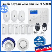 advanced fire systems - Advanced Zones Touch Keypad LCD GSM PSTN Wireless Security Home Office Burglar Intruder Alarm System Fire Alarm iHome328GPB25