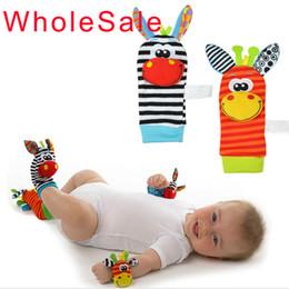 Wholesale Cartoon animal socks Baby Toy Baby Rattles Toys Baby Socks built in bell Kids Socks aby toy Infant foot Sock